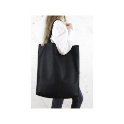 Mega Shopper bag czarna teksturowana torba oversize Vegan. Czarne torebki shopper damskie Hairoo, w paski. Za 185.00 zł.
