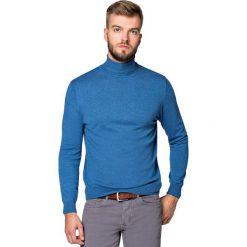 Golf J.Niebieski Sterling. Niebieskie kardigany męskie LANCERTO, z bawełny. Za 199.90 zł.