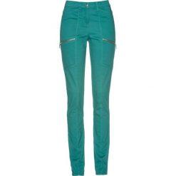 Spodnie ze stretchem bonprix dymny szmaragdowy. Spodnie materiałowe damskie marki DOMYOS. Za 79.99 zł.
