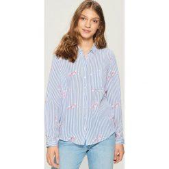 Koszula - Granatowy. Niebieskie koszule damskie Sinsay. Za 39.99 zł.