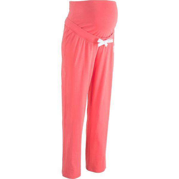 5dc43a95f2 Spodnie dresowe ciążowe bonprix jasny koralowy - Czerwone spodnie ...