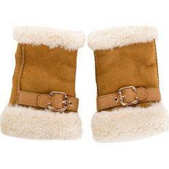 Rękawiczki Damskie UGG - W Fingerless Glove W/Belt 17377 Chestnut. Brązowe rękawiczki damskie UGG, ze skóry. Za 639.00 zł.