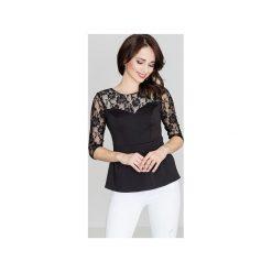 Bluzka K071 Czarny. Czarne bluzki damskie Lenitif, w koronkowe wzory, z koronki. Za 79.00 zł.