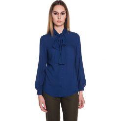 Koszula z szyfonu zapinana na guziki BIALCON. Niebieskie koszule damskie BIALCON, z szyfonu, wizytowe. W wyprzedaży za 113.00 zł.