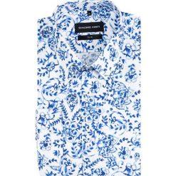Koszula SIMONE slim KDWS000463. Szare koszule męskie Giacomo Conti, na lato, z bawełny, z klasycznym kołnierzykiem. Za 259.00 zł.