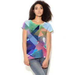 Colour Pleasure Koszulka CP-034 14 niebiesko-zielono-różowa r. XL/XXL. T-shirty damskie Colour Pleasure. Za 70.35 zł.