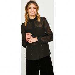 Answear - Koszula. Czarne koszule damskie ANSWEAR, z poliesteru, casualowe, z długim rękawem. Za 119.90 zł.