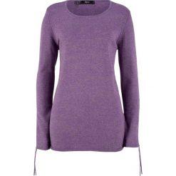 Sweter melanżowy z ozdobnym marszczeniem bonprix ultrafioletowy melanż. Swetry damskie marki KALENJI. Za 49.99 zł.