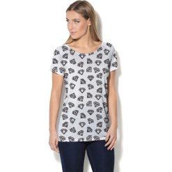 Colour Pleasure Koszulka CP-034  174 biało-czarna r. XXXL/XXXXL. T-shirty damskie Colour Pleasure. Za 70.35 zł.