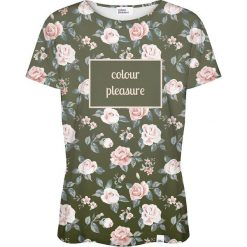 Colour Pleasure Koszulka damska CP-030 266 zielono-różowa r. XS/S. T-shirty damskie Colour Pleasure. Za 70.35 zł.