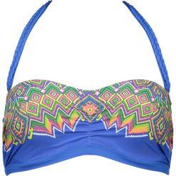 """Biustonosz bikini """"Sarram"""" w kolorze niebieskim ze wzorem. Biustonosze Brunotti, z haftami. W wyprzedaży za 74.95 zł."""