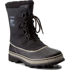 Śniegowce SOREL - Caribou NM1000 Black/Tusk 014. Czarne śniegowce i trapery męskie Sorel, z gumy. W wyprzedaży za 519.00 zł.