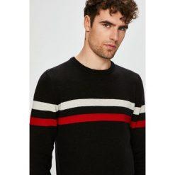 Wrangler - Sweter. Czarne swetry przez głowę męskie Wrangler. Za 269.90 zł.