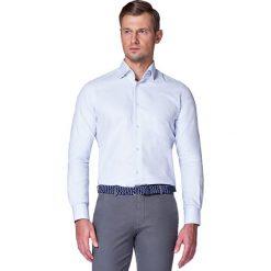Koszula Niebieska w Kropki Macadamia. Niebieskie koszule męskie LANCERTO, w kropki, z bawełny. W wyprzedaży za 199.90 zł.