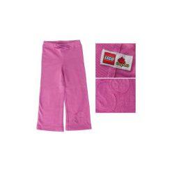 Spodnie dziewczęce dresowe Lego Wear Duplo Rozm. 98. Czerwone spodnie sportowe dla dziewczynek LEGO Wear, z napisami, z bawełny. Za 37.49 zł.