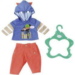 Baby Born Ubranko Chłopięce – Niebieska Bluza. Bluzy dla niemowląt Baby Born, z nadrukiem. W wyprzedaży za 40.00 zł.