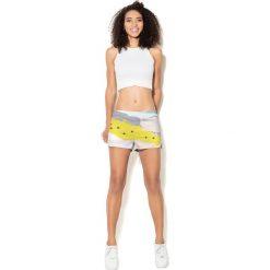 Colour Pleasure Spodnie damskie CP-020 26 biało-żółte r. 3XL/4XL. Spodnie dresowe damskie marki bonprix. Za 72.34 zł.