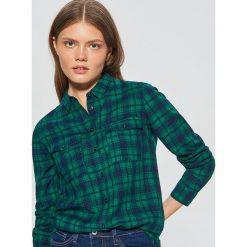 Koszula w kratę - Zielony. Zielone koszule damskie Cropp. Za 49.99 zł.