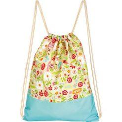 """Plecak """"Summer Garden"""" w kolorze turkusowym ze wzorem - 33 x 42,5 cm. Torby i plecaki dziecięce Moses. W wyprzedaży za 26.95 zł."""