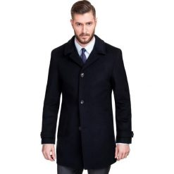 Płaszcz FERDINANDO PSGS000014. Czarne płaszcze męskie Giacomo Conti, na jesień, z wełny, klasyczne. Za 799.00 zł.