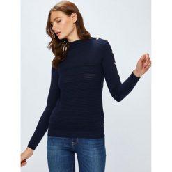 Guess Jeans - Sweter Cecilia. Szare swetry damskie Guess Jeans, z dzianiny. W wyprzedaży za 299.90 zł.