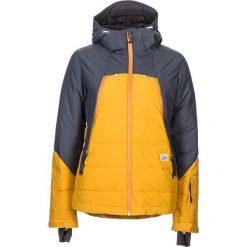 """Kurtka narciarska """"ScapooseM."""" w kolorze żółto-szarym. Żółte kurtki snowboardowe damskie Maloja, z materiału. W wyprzedaży za 732.95 zł."""