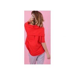 WYLUZOWANA BLUZA GINGER - CZERWONA. Czerwone bluzy damskie Madnezz. Za 129.00 zł.