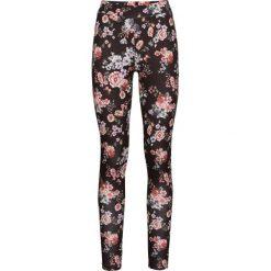 Legginsy w kwiaty bonprix czarny w kwiaty. Czarne legginsy damskie bonprix, w kwiaty. Za 69.99 zł.