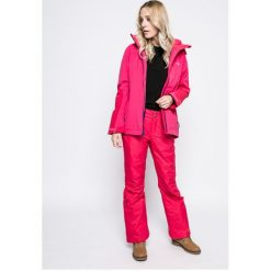 Columbia - Spodnie snowboardowe Bugaboo OH. Brązowe spodnie materiałowe damskie Columbia, z materiału. W wyprzedaży za 319.90 zł.