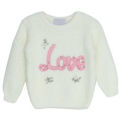 Kremowy Sweter Meekness. Białe swetry dla dziewczynek Born2be, na jesień. Za 69.99 zł.