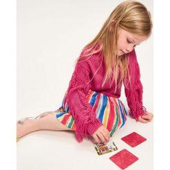 Sweter z frędzlami na rękawach - Różowy. Swetry dla dziewczynek Reserved. W wyprzedaży za 29.99 zł.