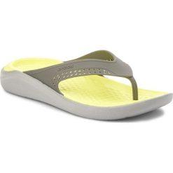 Japonki CROCS - Literide Flip 205182 Slate Grey/Light Grey. Szare klapki damskie Crocs, z materiału. W wyprzedaży za 159.00 zł.