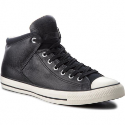 Trampki CONVERSE - Ctas High Street Hi 157472C Black/Black/Egret. Czarne trampki męskie Converse, z gumy. W wyprzedaży za 279.00 zł.