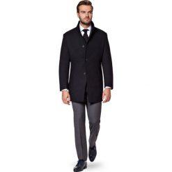 Płaszcz Czarny Alexio. Czarne płaszcze męskie LANCERTO, z bawełny, klasyczne. W wyprzedaży za 499.90 zł.