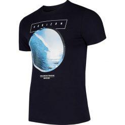 T-shirt męski TSM293 - ciemny granatowy. Niebieskie t-shirty męskie 4f, z bawełny. Za 59.99 zł.