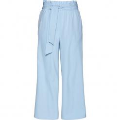 Spodnie culotte z wiązanym paskiem bonprix lodowy niebieski. Spodnie materiałowe damskie marki DOMYOS. Za 109.99 zł.