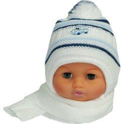 Czapka niemowlęca z szalikiem CZ+S 154E biała. Czapki dla dzieci marki Pulp. Za 38.76 zł.