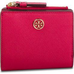 Mały Portfel Damski TORY BURCH - Robinson Mini Wallet 52703 Bright Azalea 663. Czerwone portfele damskie Tory Burch, ze skóry. Za 599.00 zł.