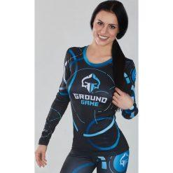"""Ground Game Sportswear Koszulka damska Rashguard """"Circles"""" długi rękaw  Niebiesko-grafitowa r. M. T-shirty damskie Ground Game Sportswear. Za 149.00 zł."""