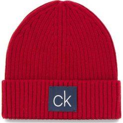 Czapka CALVIN KLEIN - Basic Rib Beanie K50K504096 628. Czerwone czapki i kapelusze męskie Calvin Klein. Za 179.00 zł.