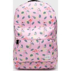 Spiral - Plecak. Różowe plecaki damskie Spiral, w paski, z materiału. W wyprzedaży za 99.90 zł.