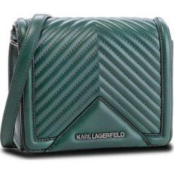 Torebka KARL LAGERFELD - 86KW3021 Dark Emerald 608. Zielone listonoszki damskie KARL LAGERFELD, ze skóry. W wyprzedaży za 849.00 zł.
