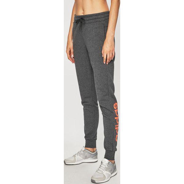 Szare spodnie i legginsy damskie adidas Performance