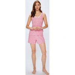 Lauren Ralph Lauren - Piżama. Różowe piżamy damskie Lauren Ralph Lauren, z bawełny, z krótkim rękawem. W wyprzedaży za 229.90 zł.