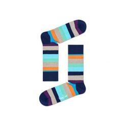 Skarpetki Happy Socks STR01-6007. Brązowe skarpety męskie Happy Socks, z bawełny. Za 24.43 zł.