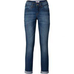 Dżinsy ze stretchem 7/8 STRAIGHT bonprix ciemnoniebieski. Jeansy damskie marki bonprix. Za 74.99 zł.