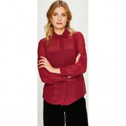 Answear - Koszula. Czerwone koszule damskie ANSWEAR, z poliesteru, casualowe, z długim rękawem. Za 119.90 zł.