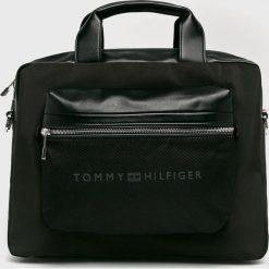 Tommy Hilfiger - Torba. Czarne torby na laptopa męskie Tommy Hilfiger, w paski, z materiału. Za 699.90 zł.
