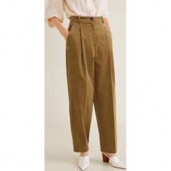 Mango - Spodnie Dorian. Szare spodnie materiałowe damskie Mango, z bawełny. Za 229.90 zł.