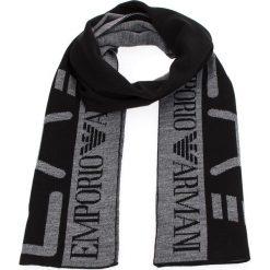 Szal EA7 EMPORIO ARMANI - 275561 8A301 00020 Black. Szare szaliki i chusty damskie marki Giacomo Conti, na zimę, z tkaniny. W wyprzedaży za 219.00 zł.